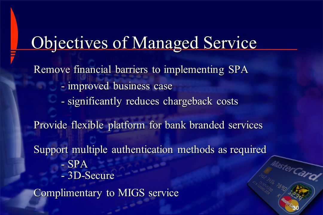 Objectives of Managed Service