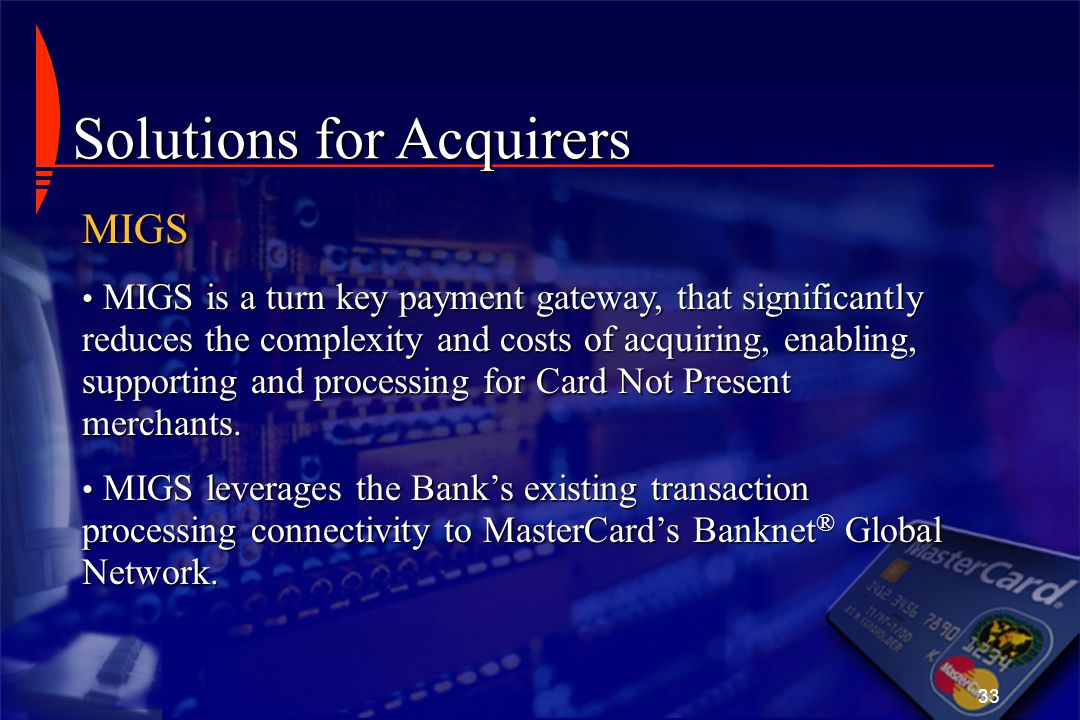 Solutions for Acquirers