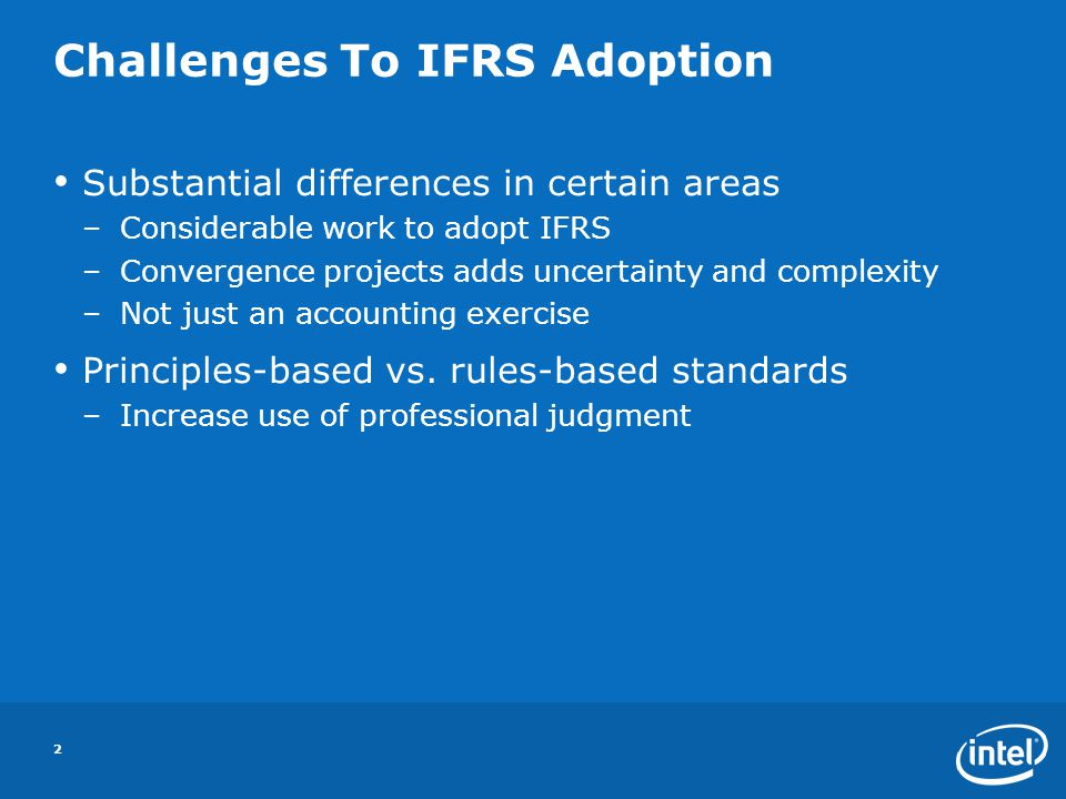 Challenges To IFRS Adoption
