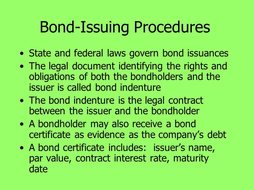 Bond-Issuing Procedures