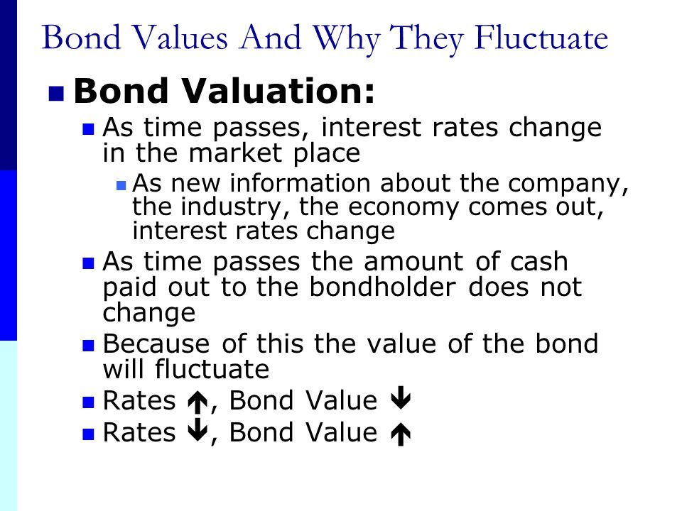 Bond Values And Why They Fluctuate