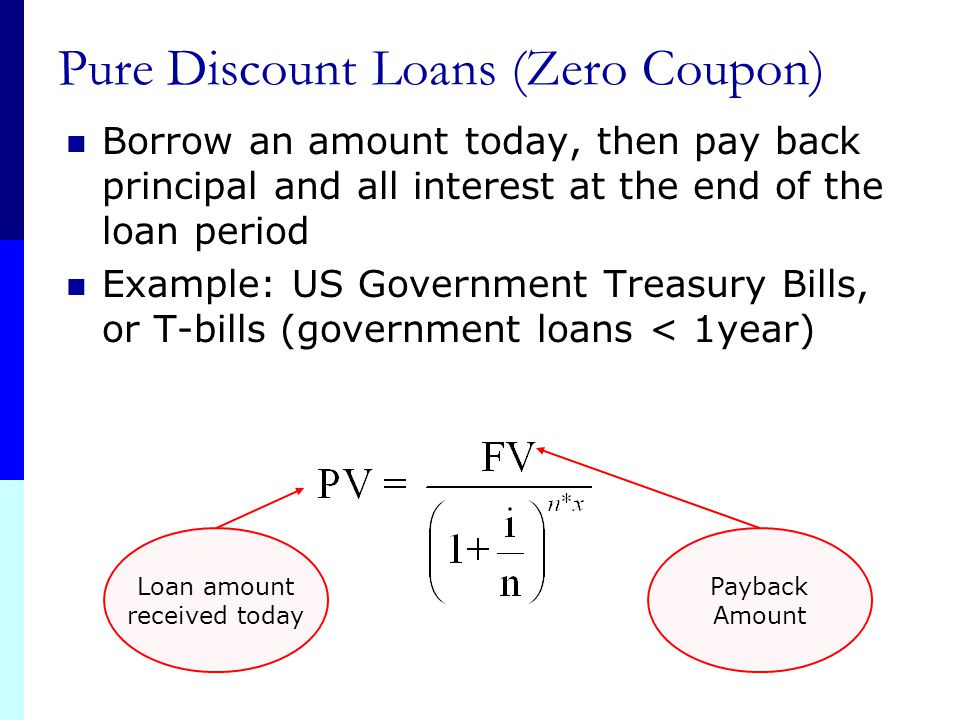 Pure Discount Loans (Zero Coupon)