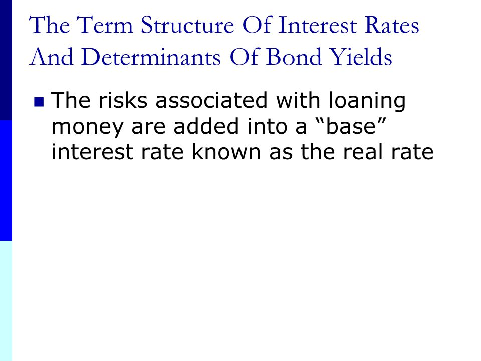 The Term Structure Of Interest Rates And Determinants Of Bond Yields