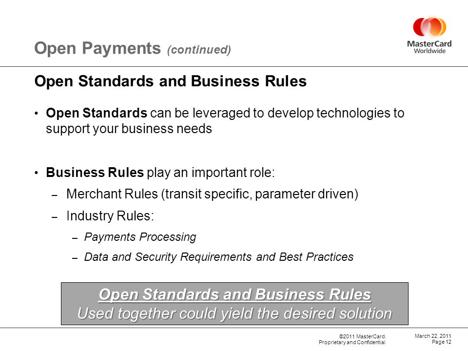 Open Standards and Business Rules