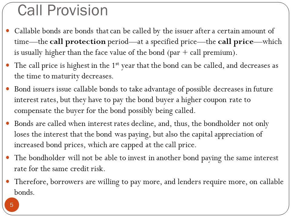 Call Provision