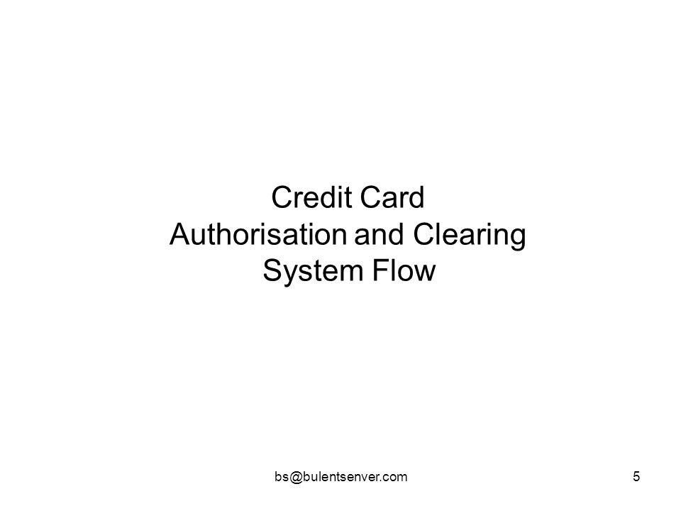 Credit Card Authorisation and Clearing System Flow