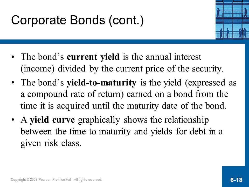 Corporate Bonds (cont.)