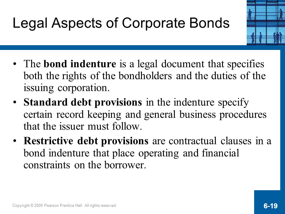 Legal Aspects of Corporate Bonds