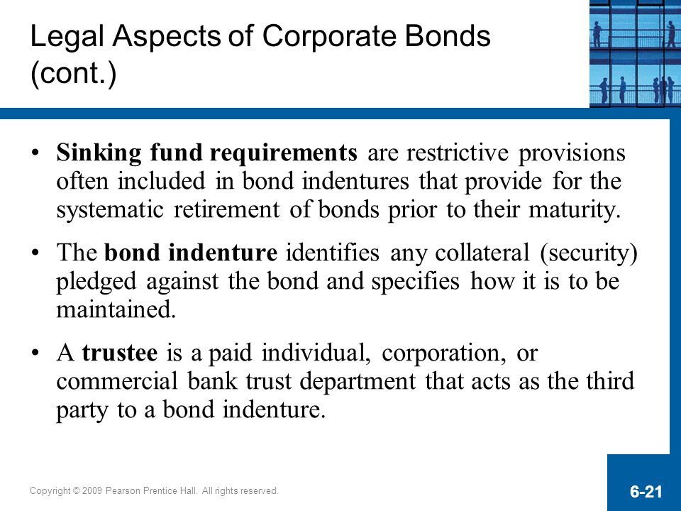 Legal Aspects of Corporate Bonds (cont.)
