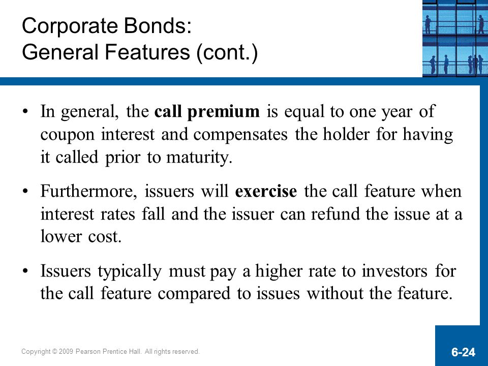 Corporate Bonds: General Features (cont.)