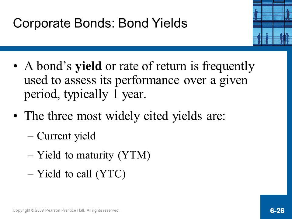 Corporate Bonds: Bond Yields