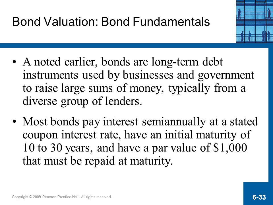 Bond Valuation: Bond Fundamentals