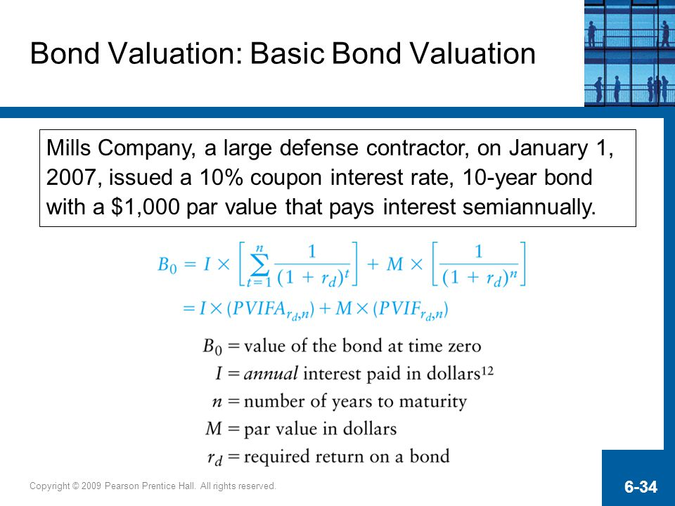 Bond Valuation: Basic Bond Valuation