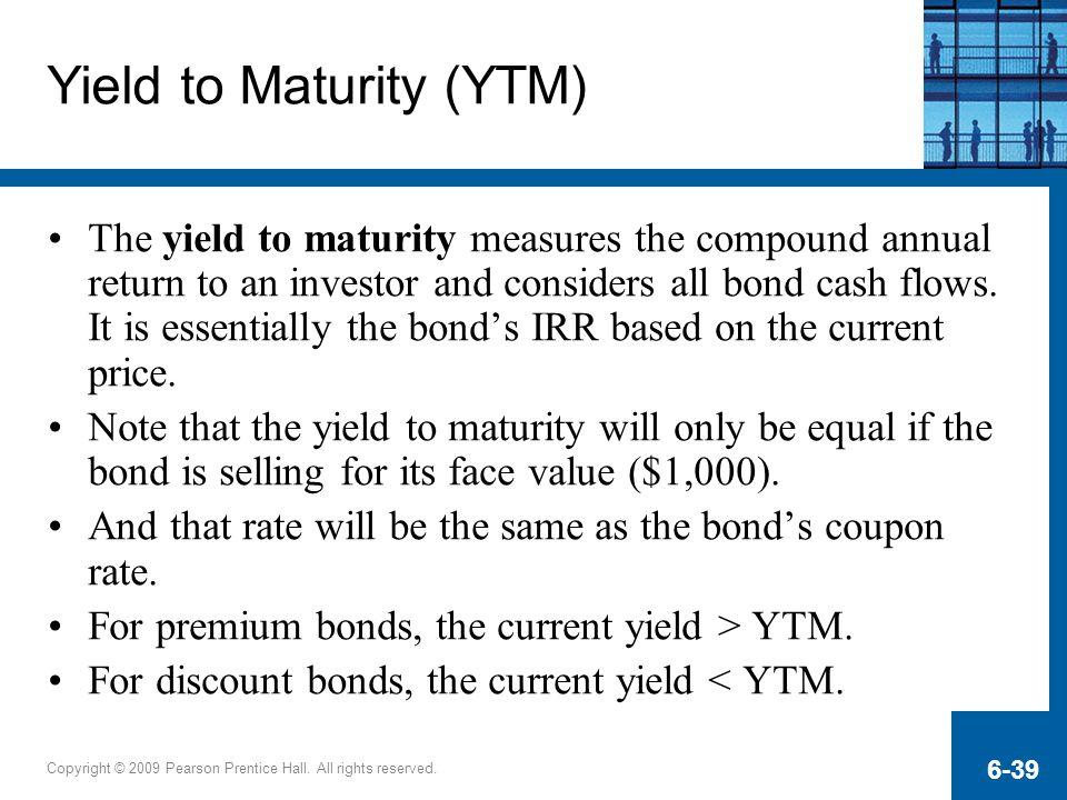 Yield to Maturity (YTM)