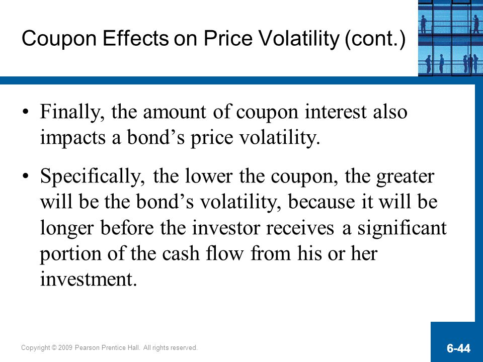Coupon Effects on Price Volatility (cont.)