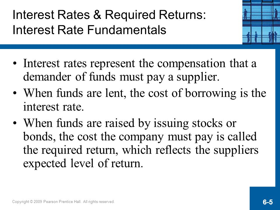 Interest Rates & Required Returns: Interest Rate Fundamentals