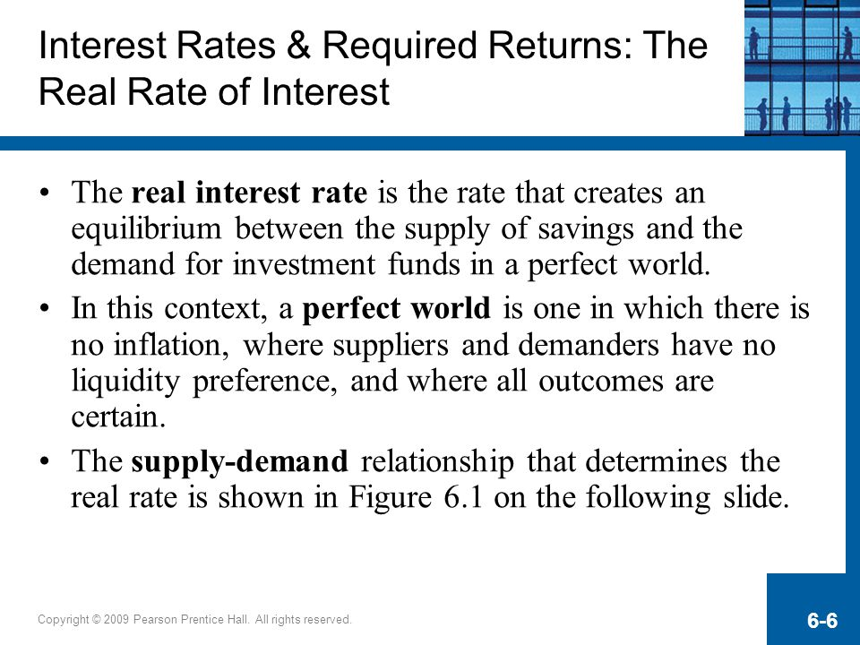 Interest Rates & Required Returns: The Real Rate of Interest