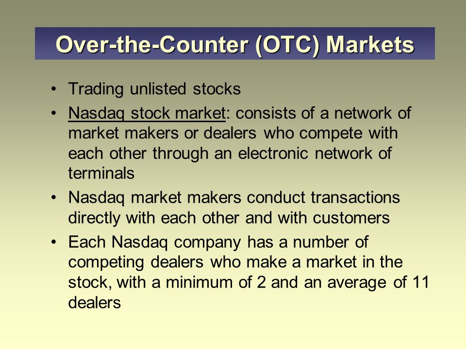 Over-the-Counter (OTC) Markets