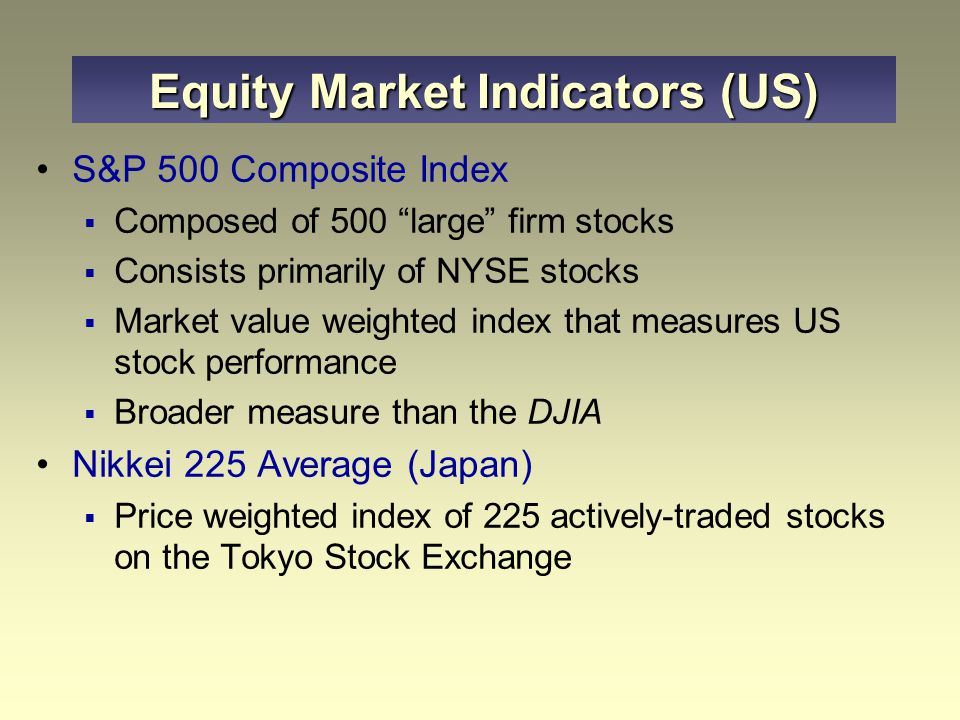 Equity Market Indicators (US)