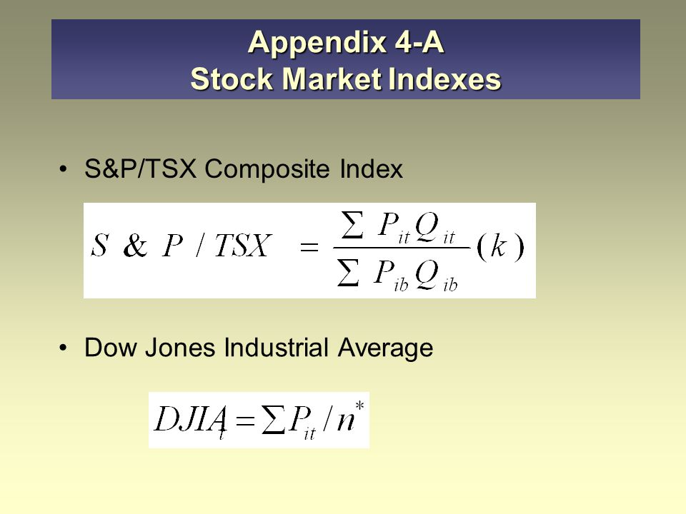 Appendix 4-A Stock Market Indexes