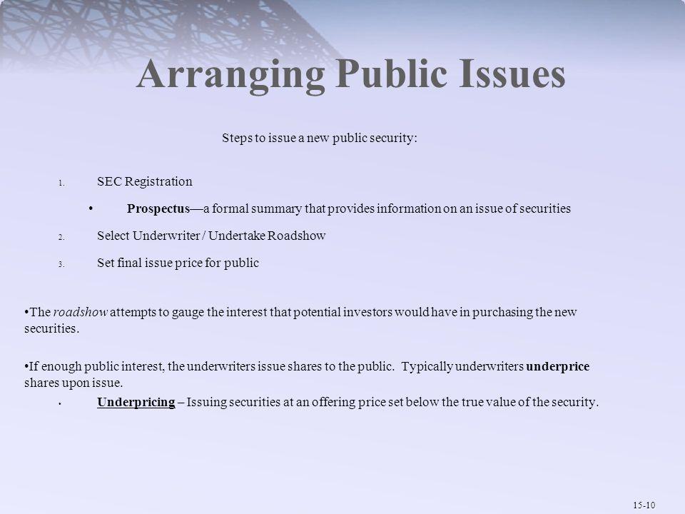 Arranging Public Issues