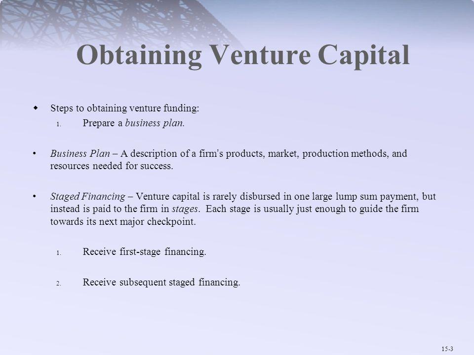 Obtaining Venture Capital