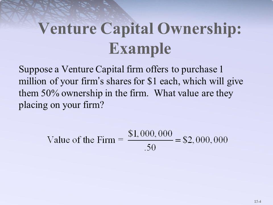 Venture Capital Ownership: Example