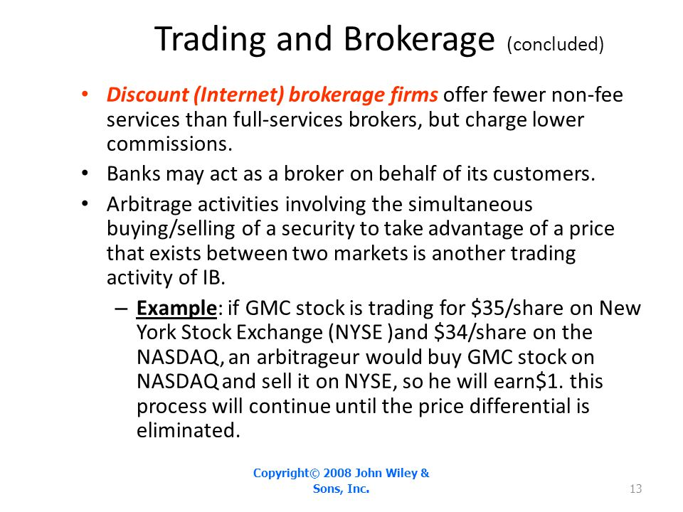 Trading and Brokerage (concluded)