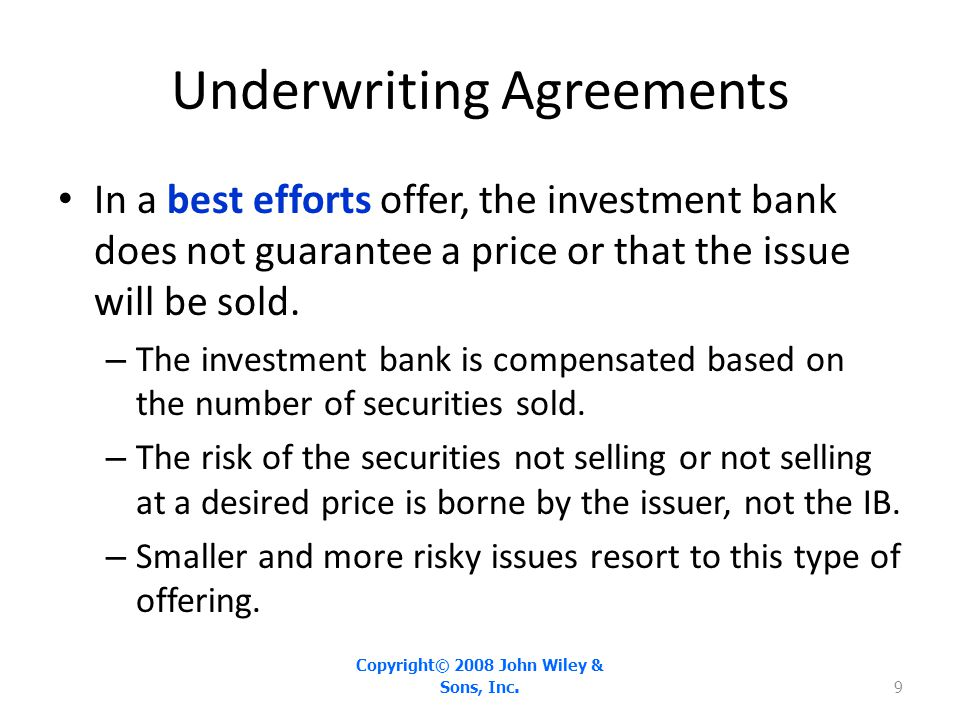 Underwriting Agreements