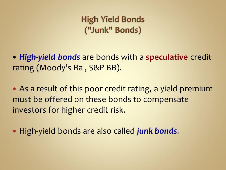 High Yield Bonds ( Junk Bonds)