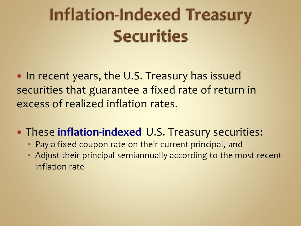 Inflation-Indexed Treasury Securities