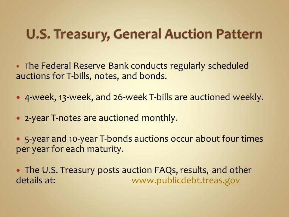 U.S. Treasury, General Auction Pattern