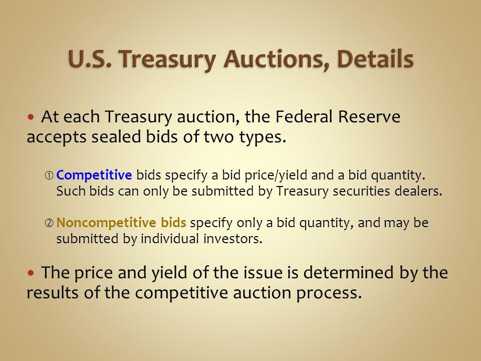 U.S. Treasury Auctions, Details