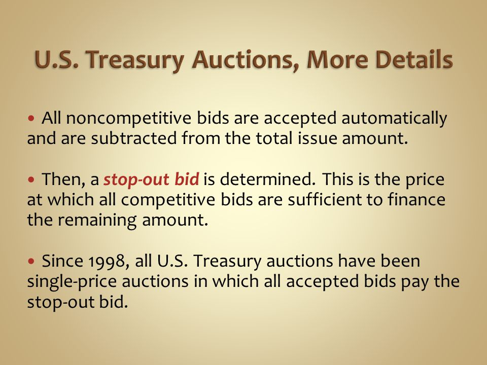 U.S. Treasury Auctions, More Details
