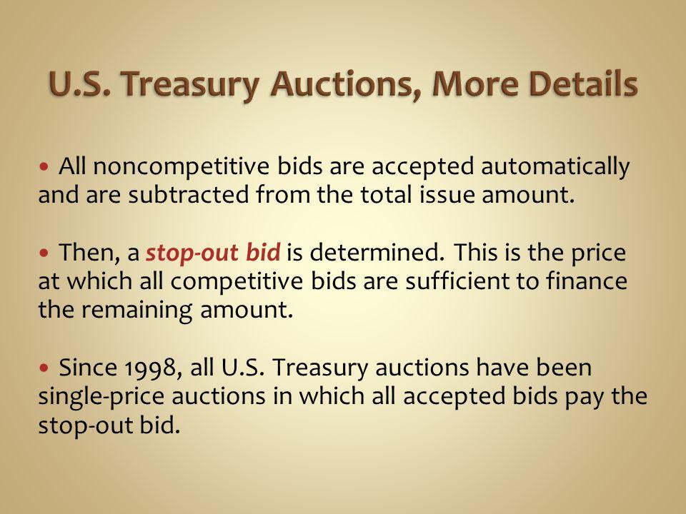 U.S. Treasury Auctions, More Details