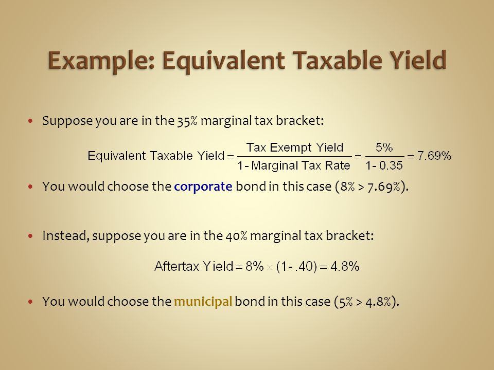Example: Equivalent Taxable Yield