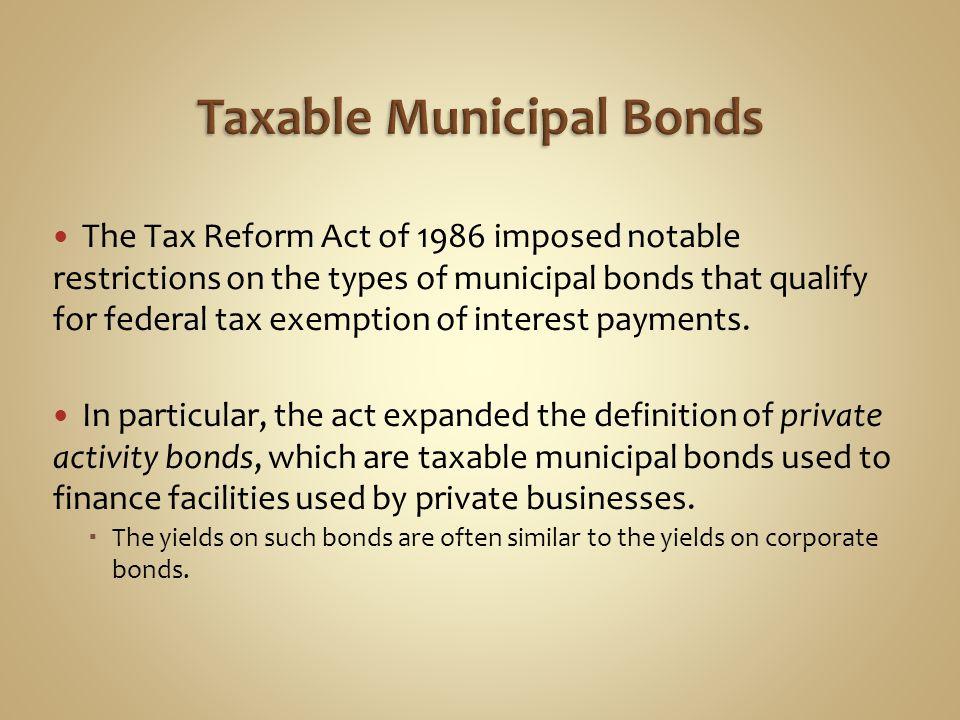 Taxable Municipal Bonds