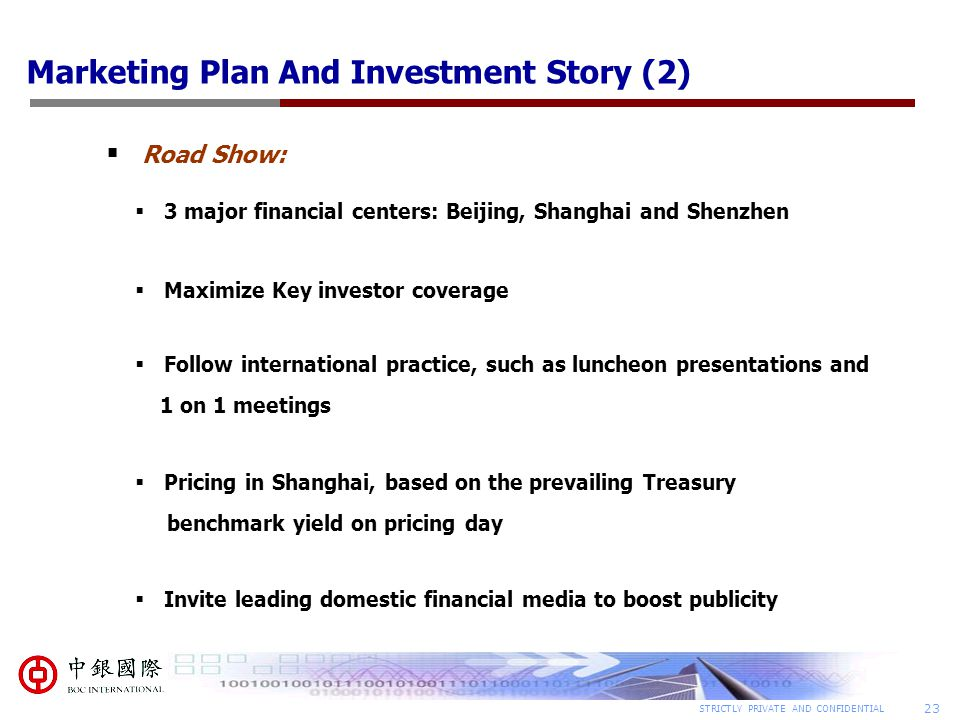 Capital market business plan
