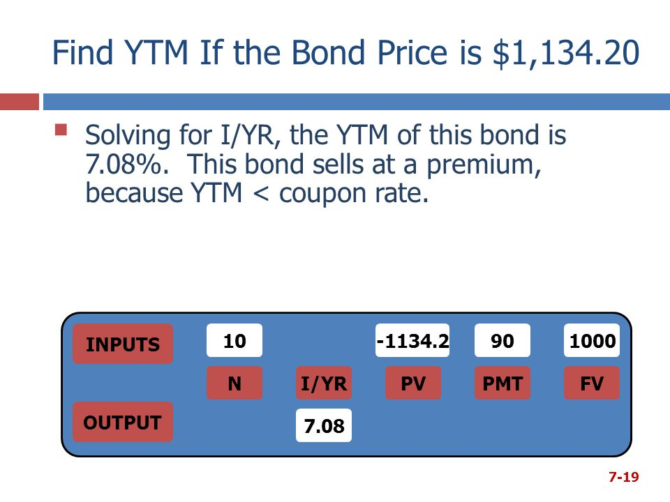 Find YTM If the Bond Price is $1,134.20