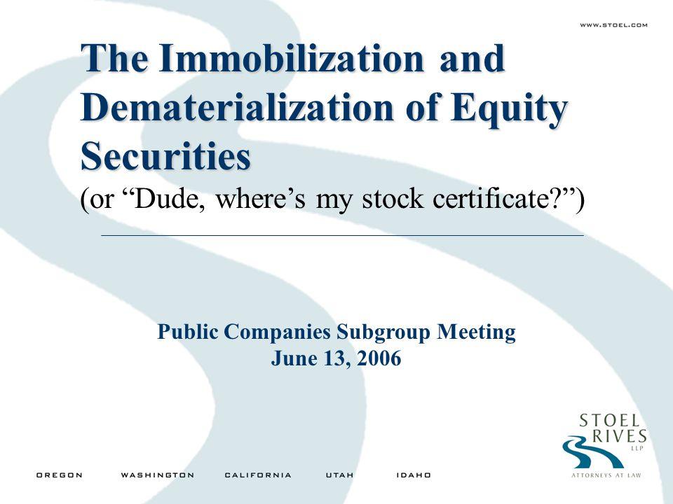 Public Companies Subgroup Meeting