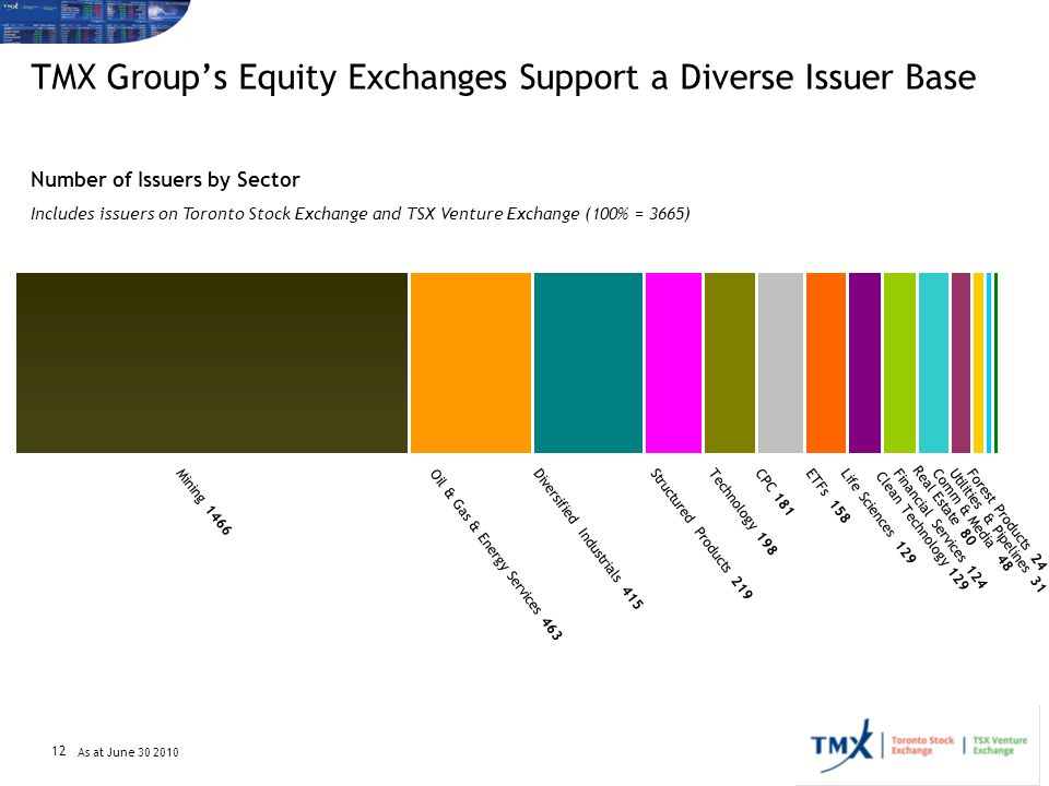 TMX Group's Equity Exchanges Support a Diverse Issuer Base