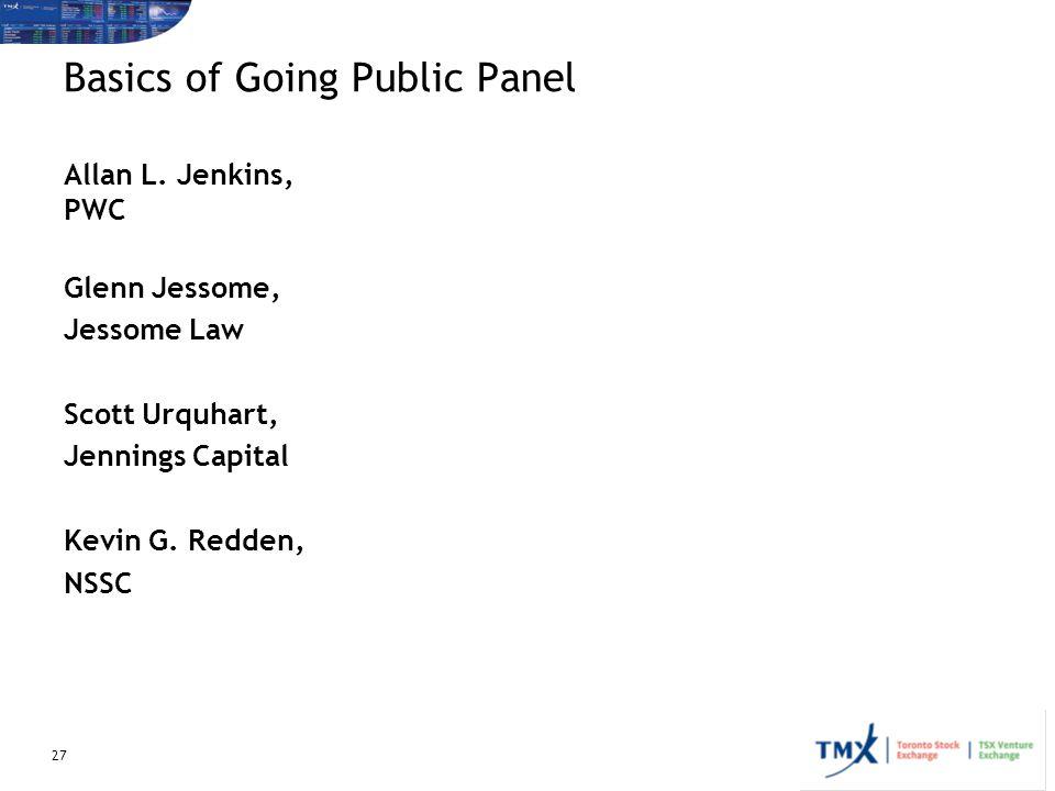 Basics of Going Public Panel