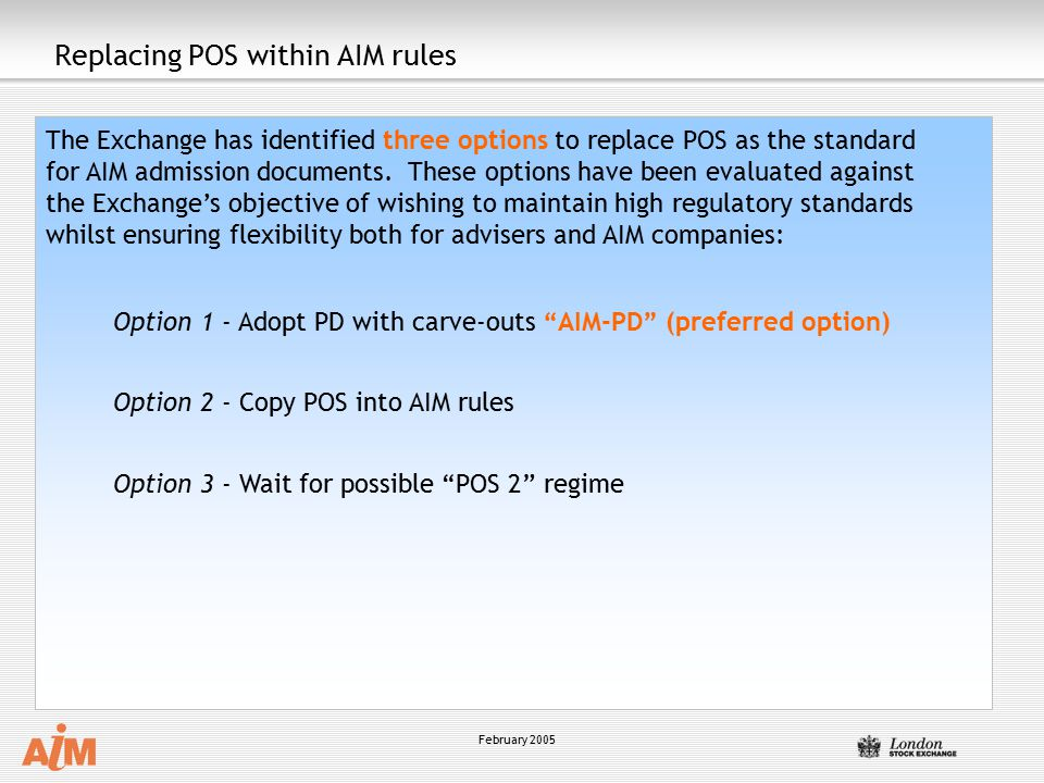 Replacing POS within AIM rules