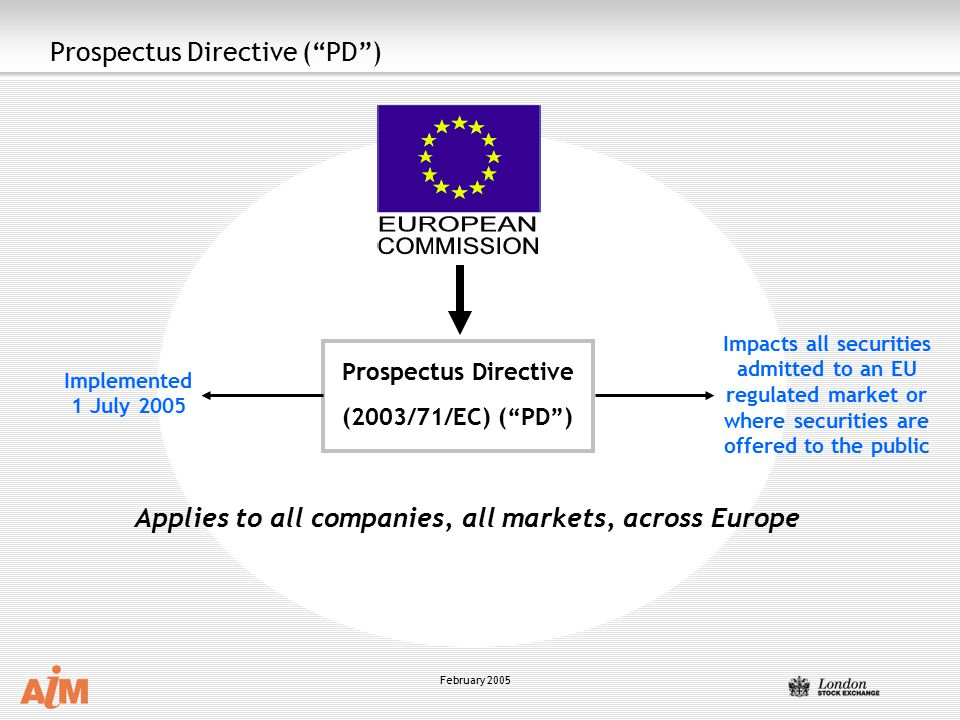 prospectus directive This website and the prospectuses and other information available for downloading therefrom do not constitute an advertisement within the meaning of the prospectus directive or the prospectus regulation (regulation (ec) 809/2004 of the european parliament and of the council), and amendments thereto or an advertisement (reclame-uiting) within.
