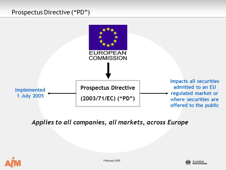 Prospectus Directive ( PD )