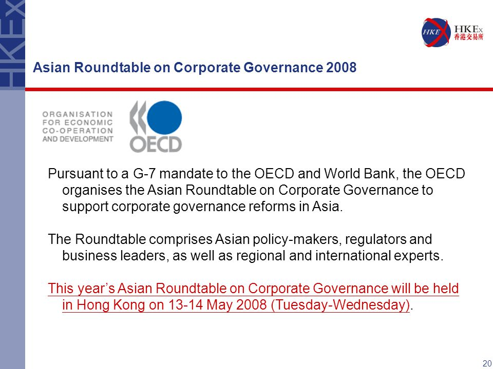Asian Roundtable on Corporate Governance 2008