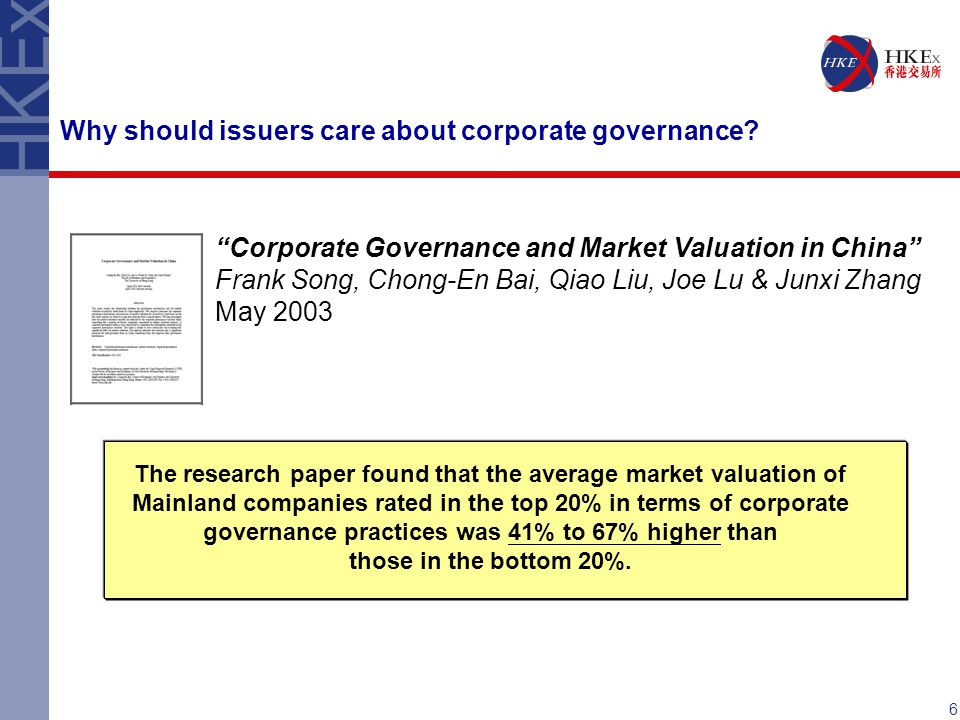 Why should issuers care about corporate governance