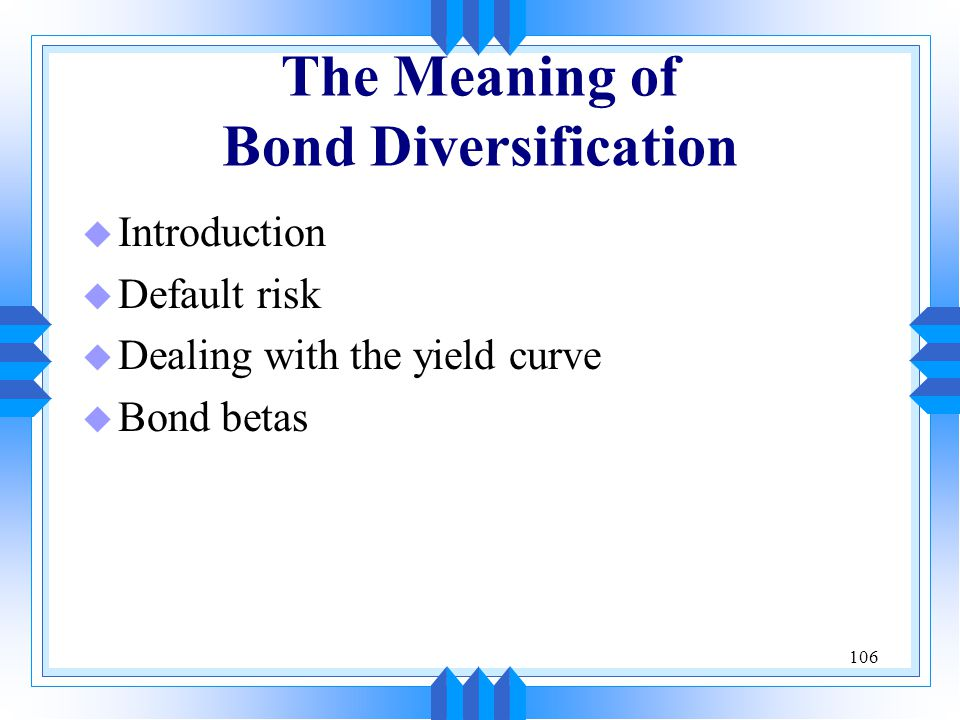 The Meaning of Bond Diversification