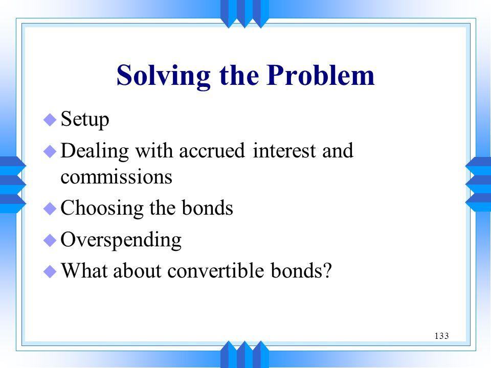 Solving the Problem Setup
