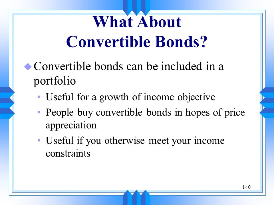 What About Convertible Bonds